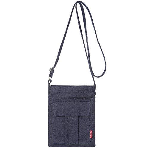 - AOCINA Small Crossbody Purse Bags Canvas Mini Shoulder Handbag For Women(Denim Blue)