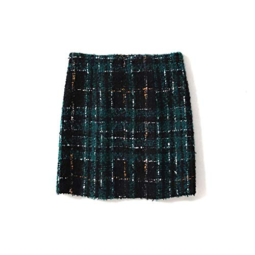 Donna E Corta Abito Parola Qzbtu Tartan Fragranza Piccola Xl Una Autunno Gonna Inverno In YnZZqT1