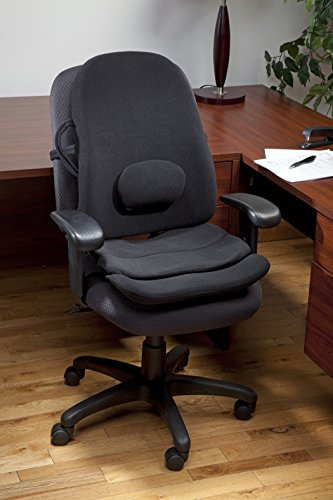 Obus Forme Ergonomic Orthopedic Combo Low Back Backrest and Contoured Seat Cushion Helps to Relieve Stress and Back Pain! - Black (Obus Ultra Seat)