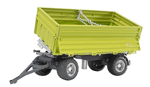 Bruder Vehicle Fliegl, Three Way Tipping Trailer with Removable Top