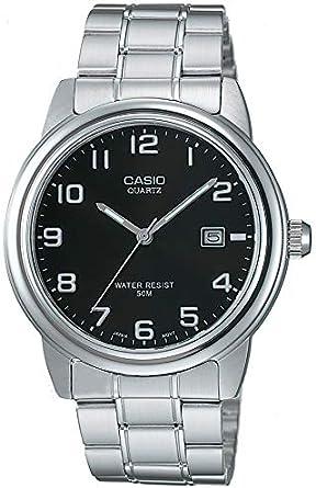 Casio Collection MTP-1221A-1AVEG, Reloj Analógico con Pantalla de Neón, Plateado