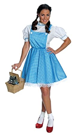 amazoncom rubies costume co womens wizard of oz dorothy costume standard26 bluewhite clothing - Dorothy Halloween Costume Women