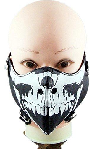 Qiu ping Men and women fashion punk skull rivet rock riding mask personality mask by Qiu ping