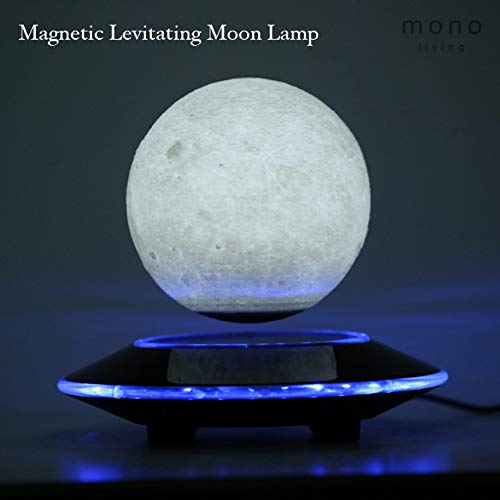 mono living Magnetic Levitating Moon Lamp Night Light 3D Print LED Auto Rotate Birthday Father's Day Gift Gift for Him Her Mother Family Couple Daughter TeenGirl Boyfriend Girlfriend 5.9'' by mono living (Image #2)