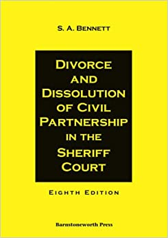 Book Divorce and Dissolution of Civil Partnership in the Sheriff Court