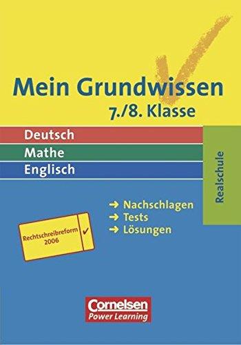 Mein Grundwissen - Realschule - Aktualisierte Ausgabe 2006: 7./8. Schuljahr - Schülerbuch