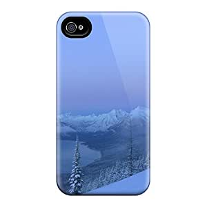 New Fashionable GraceannMJackson QaeCOQh4076tmLct Cover Case Specially Made For Iphone 4/4s(fantastic Winter Mountain View)