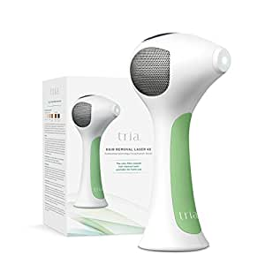 Tria Beauty Hair Removal Laser 4X for Women and Men - At Home Device for Permanent Results on Face and Body - FDA cleared - White Green