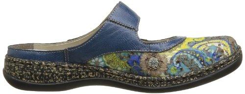 Rieker Dames Daisy 85 Slip-on Klompen En Muilezels Schoenen Multicolor Blauw