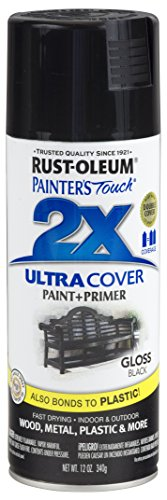 Rust-Oleum 249122-6 PK Painter's Touch 2X Ultra Cover, 12 oz, Black (The Best Gloss Paint)
