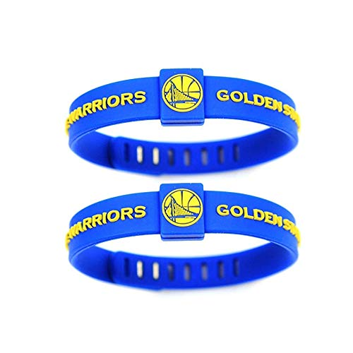 DOT JEWELRY Adjustable Silicone Wristband Bracelets for Sports Fans,2PCS