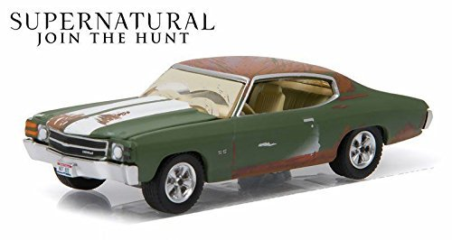 New 1:64 Hollywood Series 14 Collection - SUPERNATURAL BOBBY'S GREEN 1971 CHEVROLET CHEVELLE Diecast Model Car By (Chevelle Diecast Model)
