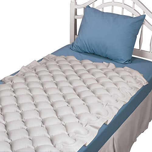 Alternating Pressure Mattress Pad for Twin Beds - Air Pressure Mattress - Inflatable Bed Pad Helps Relieve Bed Sores, Tan
