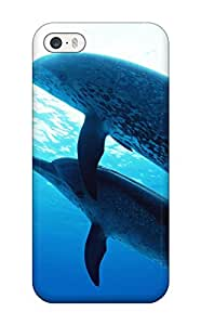 Fashionable Style Case Cover Skin For Iphone 5/5s- Dolphins Under The Sea