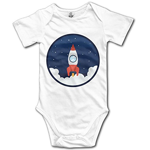 Teesofun Lovely Spacecraft Love Comfort Baby Infant Bodysuit 24 Months Infant Toddler Baby Boys Girls Climbing Clothes Rompers White ()