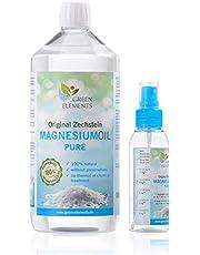 Zechstein Magnesium Olie PUR - Set van 1000 ml natuurlijke pekel in voorraadfles + 100 ml sprayfles