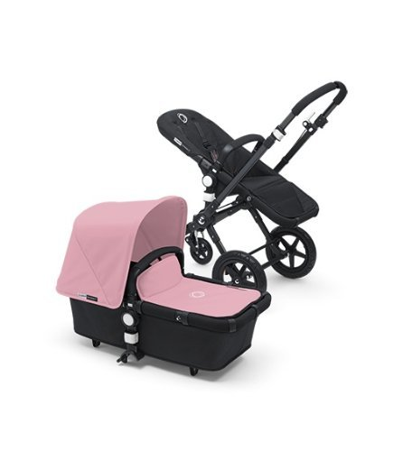 Bugaboo Cameleon 3 Stroller Black Frame and Black Base With New Extendable Sun Canopy (Soft Pink)