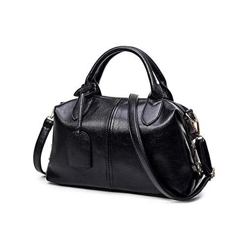 Sunwel Fashion Women's Faux Leather Medium Boston Bags Shoulder Strap Crossbody Handbag Tote Style B