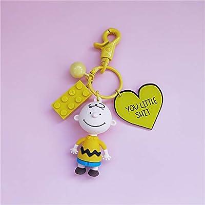 Cartoon Glue Drop Doll Charlie Brown Keychain Snoopy Snoopy