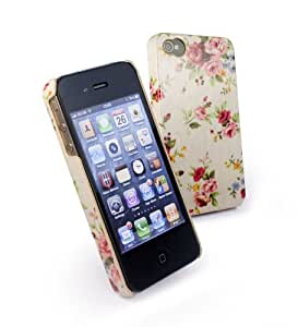 Tuff-Luv Tuff-Shell Case Cover for Apple iPhone 4 / 4s - Beige (Secret Garden)