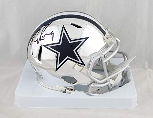 Tony Romo Autographed Dallas Cowboys Chrome Mini Helmet - Beckett Auth Black