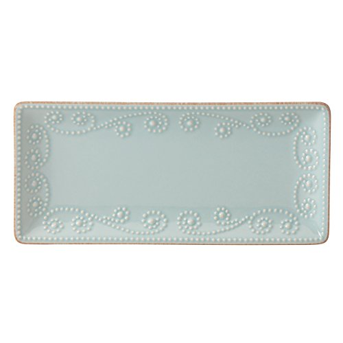 Lenox French Perle Rectangular Tray, Ice Blue - 868327 (Trays Rectangular)