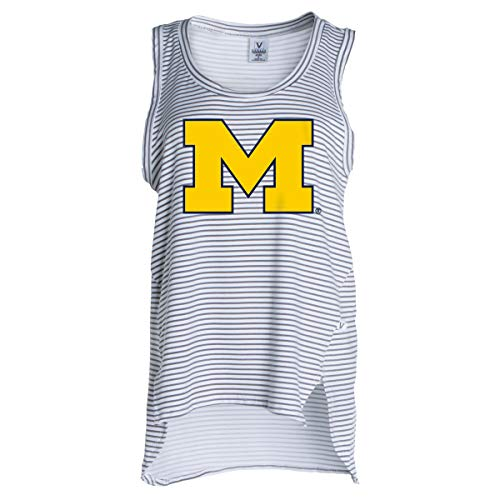 Official NCAA University of Michigan Wolverines Women's Stretchy Stripe Tank Top -