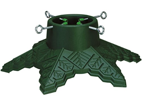 CLB Snowflake Christmas Tree Stand Green Plastic For Trees Up to 7 Ft Tall With a Max 4 Inch Trunk by CLB