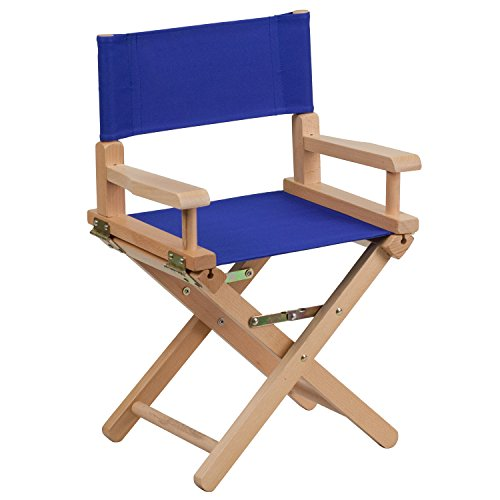 Flash Furniture Kid Size Directors Chair in Blue