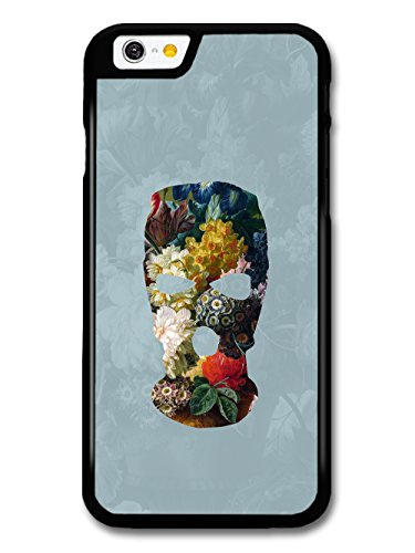 Balaclava Illustration on Flower Painting Goth Grunge case for iPhone 6 6S