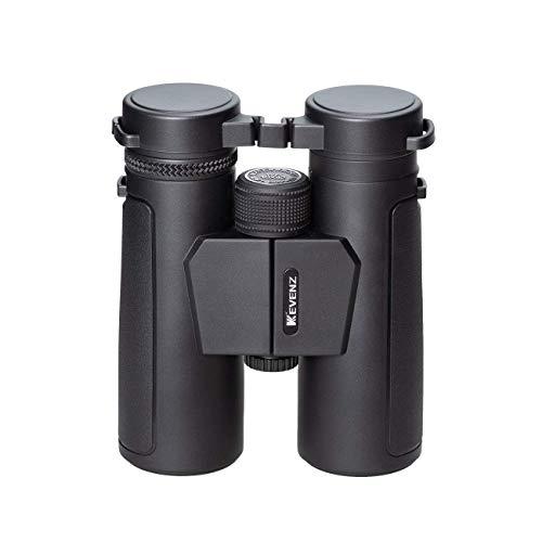 Kevenz 10×42 Compact Binoculars with Low Light Night Vision,Large Eyepiece High Power Waterproof Binocular Easy Focus for Outdoor Hunting, Bird Watching, Traveling Black, 10 X 42