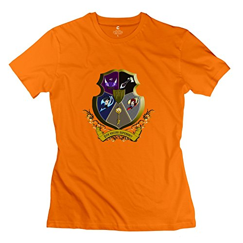 Guilds Crest BadgeLadyO-Neck Orange KaiOu Women T Shirt Theme