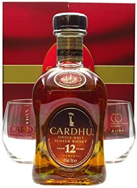 Cardhu - Gift Box- 2 x Glass Pack & - 12 year old Whisky