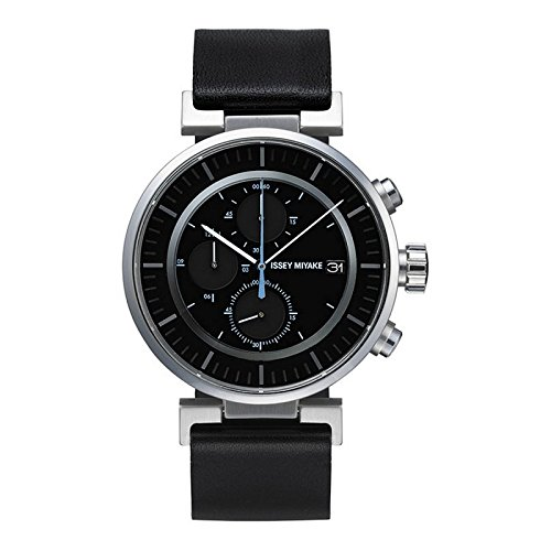 Issey Miyake W Black Face Black Band Watch SILAY009