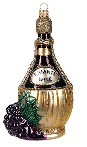 Chianti Wine Italian Italy Tuscany Florence Polish Glass Christmas Ornament Travel