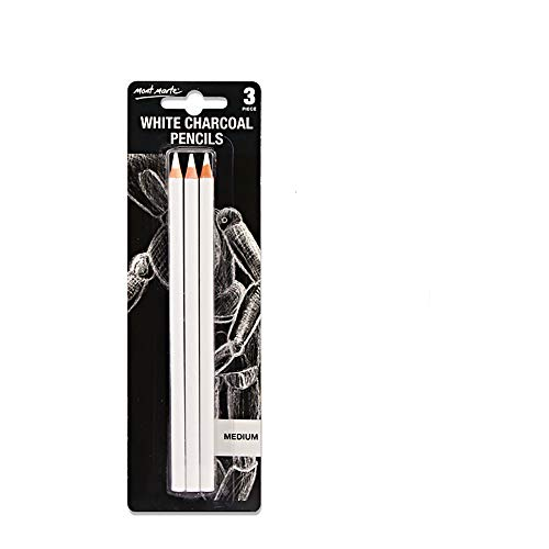 Sketch Highlight Pencil Pen Charcoal White Sketch Pencil Painting Special White Charcoal 3 Stick Set (Best Pencil Sketch Painting)