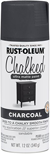 (Rust-Oleum 302590 Chalked Spray Paint, 12 oz, Charcoal/Gray )