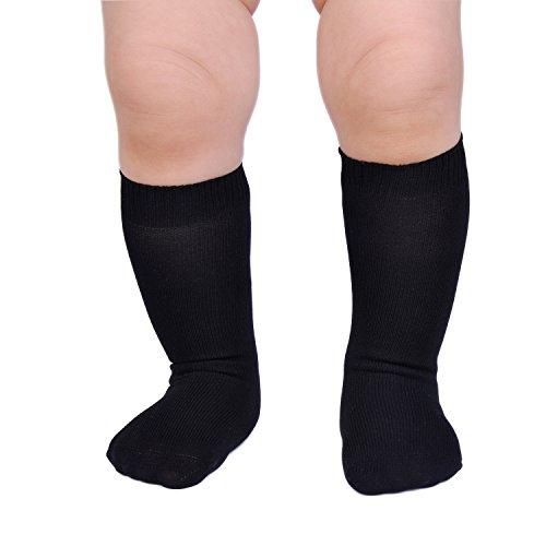 Epeius Unisex-Baby Seamless Classic Nylon Knee Highs Infant Boys/Girls Uniform Stockings Dress Knee Socks for 3-9 -