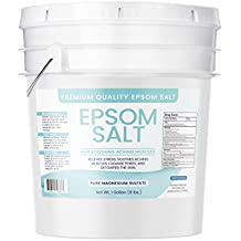 Epsom Salt, Magnesium Sulfate, Soaking Solution, All-Natural, Highest Quality & Purity, USP Grade, Resealable Bucket with Lid, Keeps Out Moisture, (1 Gallon (8 lb)(128 oz))