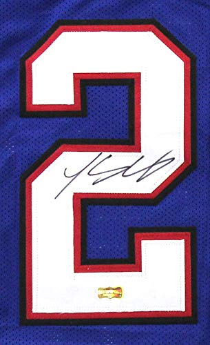 LeSean McCoy Autographed/Signed Buffalo Blue Custom Football Jersey
