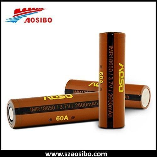 2 x AOSO 30A/60A 18650 3.7V Battery 2600mAh, Brand New , High Quality Guaranteed, US Seller