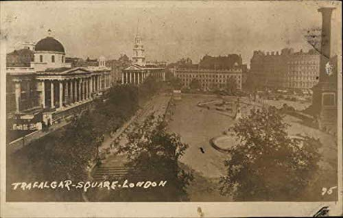 Trafalgar Square London, England Original Vintage Postcard (Trafalgar Square London)