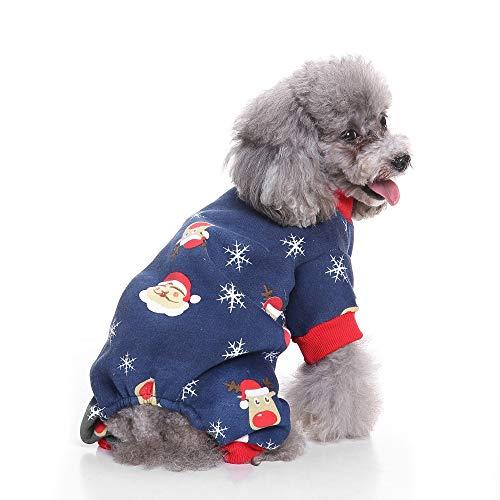(Dog Christmas Costume Cute Snowman Deer Santa Costumes Pet Apparel Autumn Clothes)