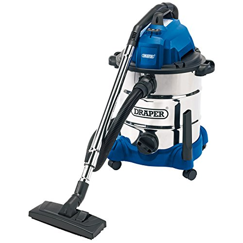 Draper 54257 30 Litre 1400 W Wet and Dry Vacuum Cleaner with Integrated 230 V Power Socket