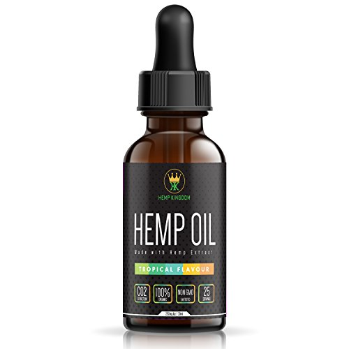 Hemp Oil Extract | Hemp Kingdom | 250 mg | Tropical Fusion Flavor – 30ml | Omega 3, 6 & 9 & Vitamins | Pain, Stress & Anxiety Relief | All-Natural Organic Ingredients | Relaxation & Sleep Support. Review