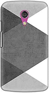 DailyObjects Black and White Triangles Case For Motorola Moto G2