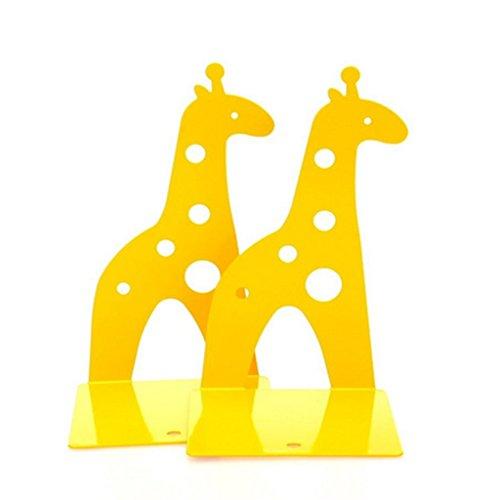 KAMIER Kreative Giraffe Metall Buchstuetze Gelb