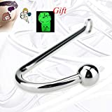 Bathroom Bedroom Utility Hook Toy for Man and Women, Stainless Steel Metal Hook with Heavy Round Head