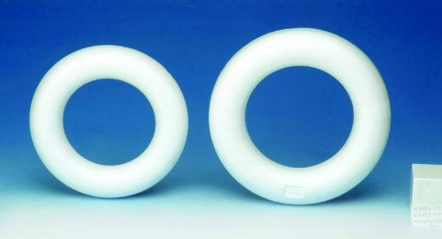 Glorex GmbH GLOREX polistirolo 2.45x 16.5x 16.5cm mezzo anello bianco 6 3803 831