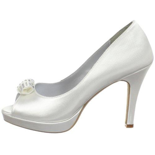 Mya Hochzeitsschuhe Satin White Größe Dyeables UK von 7 aZa7wz